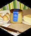 Butter, Brot, Eier und Honig